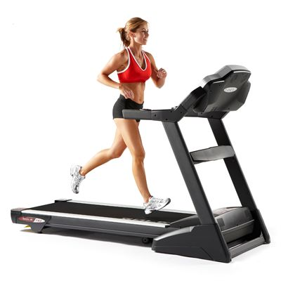 Sole F83 Folding Treadmill in Use - Front View