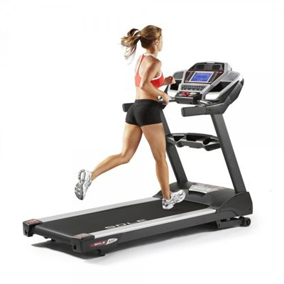 Sole S77 Platform Treadmill in Use (Side View)