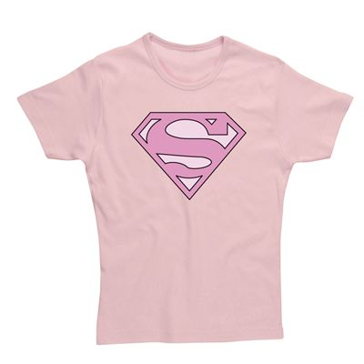 Supergirl Classic Ladies T-Shirt - Pink