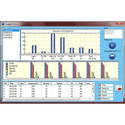 Swimovate Pool Mate PRO software - logged swims
