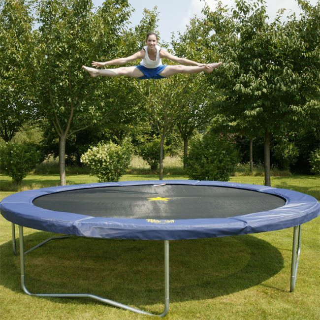 Jumpking 14ft Jumppod Deluxe Trampoline With Enclosure: Jumpking Deluxe 14ft Trampoline