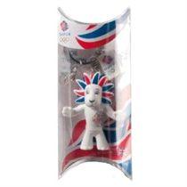 Team GB White Lion 6cm Keyring