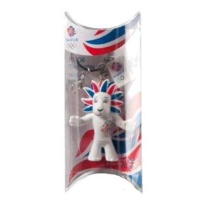 Team GB White Lion 6cm Keyring