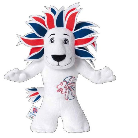 Team GB White Lion 20cm Soft Toy