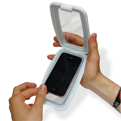 Thumbs Up Aqua Phone Case - In Use