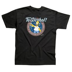 The Simpsons To Alcohol T-Shirt