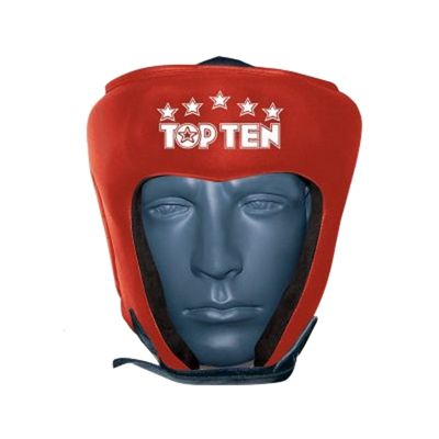 Top Ten Leather Headguard - Red