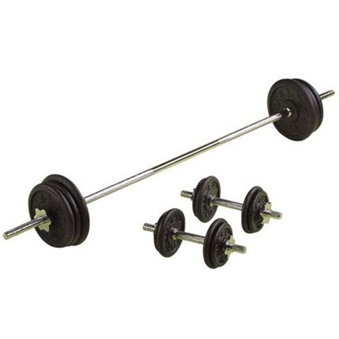 V-Fit Herculean Deluxe 50kg Cast Iron Weight Set