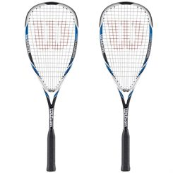 Wilson Hyper Hammer 120 Squash Racket - Blue Double Pack