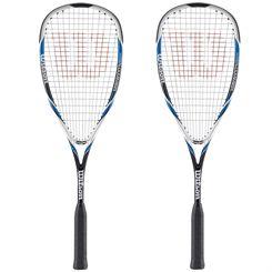 Wilson Hyper Hammer 120 Squash Racket - Blue Double Pack