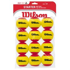 Wilson Starter Easy Red Balls - 12 Pack