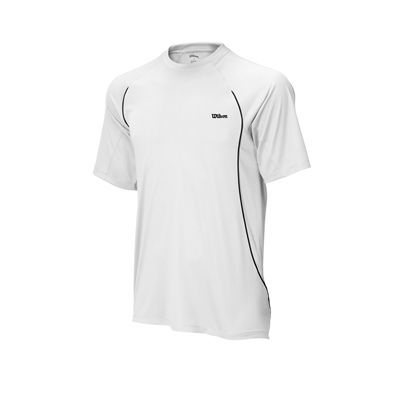 Wilson Straight Sets Crew T-Shirt - White/Black