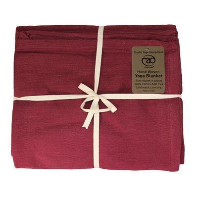 Yoga Mad Hand Woven Blanket - Burgundy