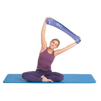Yoga Mad Resistance Band Roll Medium - In Use