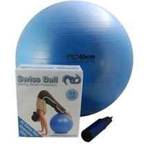 Fitness Mad Swiss Ball 300kg, Pump and DVD - 65cm