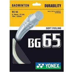 Yonex BG 65 Badminton Racket String - 10M SET