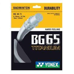 Yonex BG 65 TI Badminton Racket String - 10M SET