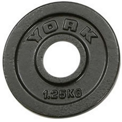 York 1.25kg Hammertone Cast Iron Olympic Plates