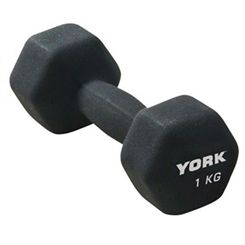 York 1kg Neo Hex Dumbbell