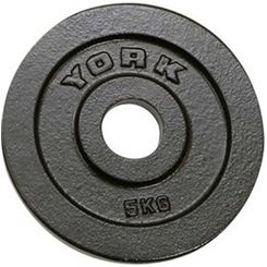 York 5kg Hammertone Cast Iron Olympic Plate