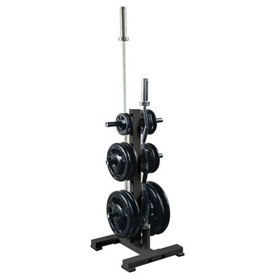 Olympic Plate Tree Rack with 2 Internal Bar Holders