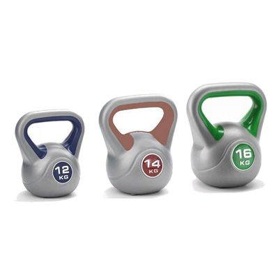 12kg 14kg 16kg vinyl kettlebell from York - Main Image