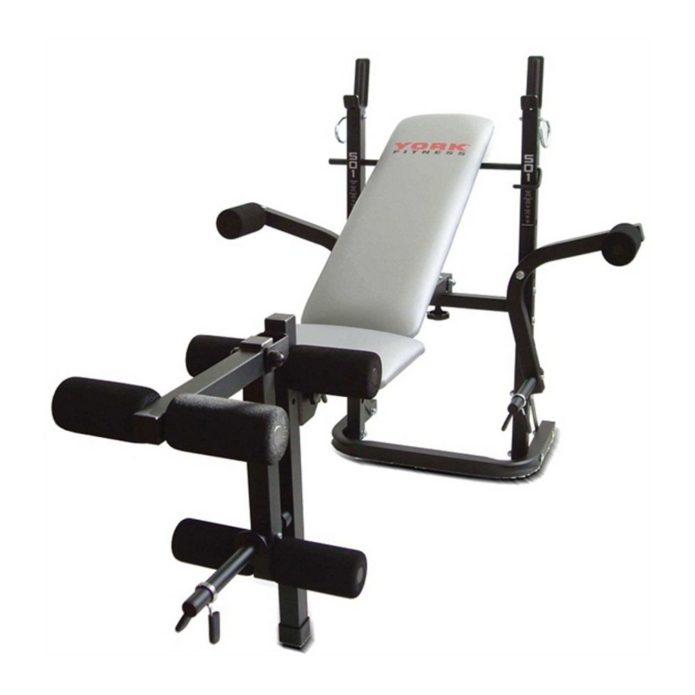 York b501 weight bench Weight bench and weights