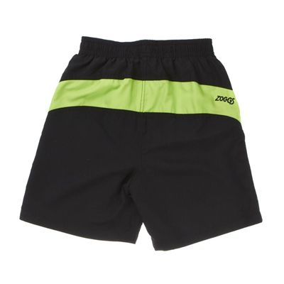 Zoggs Corbett Reef Board Boys Short - Black, back view
