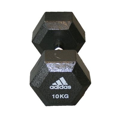 Adidas 10kg Hex Dumbbell - Single