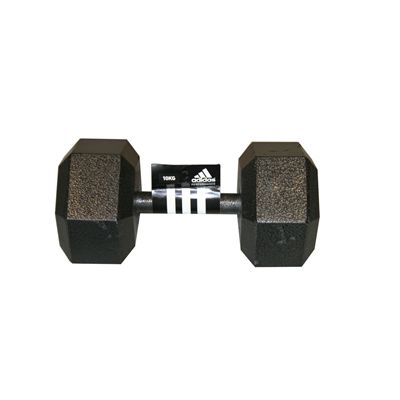 Adidas 10kg Hex Dumbbell Single