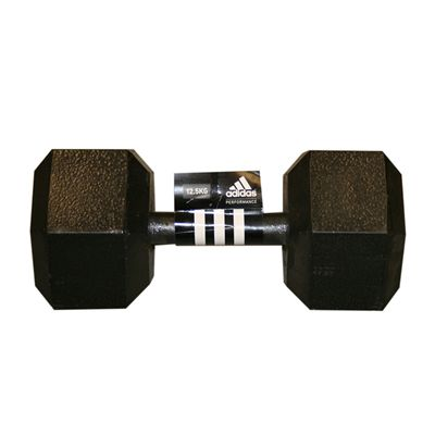 Adidas 12.5kg Hex Dumbbell - Single