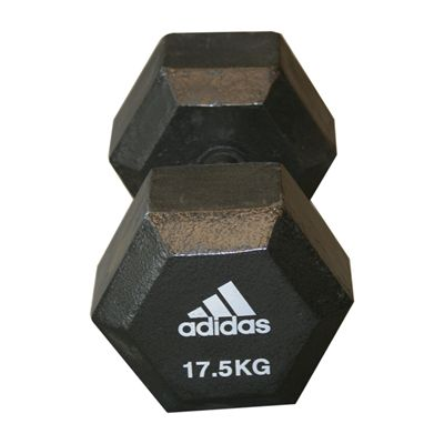 Adidas 17.5kg Hex Dumbbell - Single