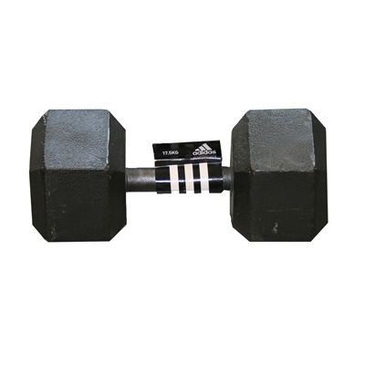 Adidas 17.5kg Hex Dumbbell -Single