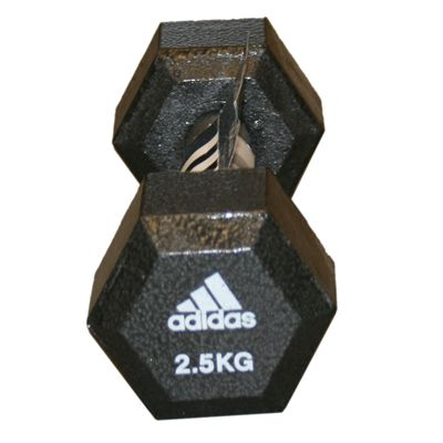 Adidas 2.5kg Hex Dumbbell Single