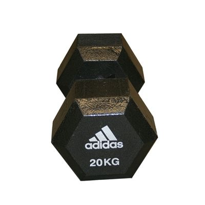 Adidas 20kg Hex Dumbbell - Single