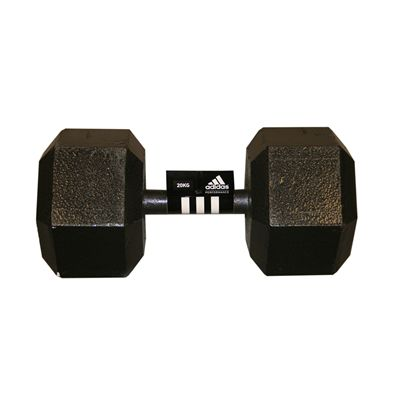 Adidas 20kg Hex Dumbbell Single