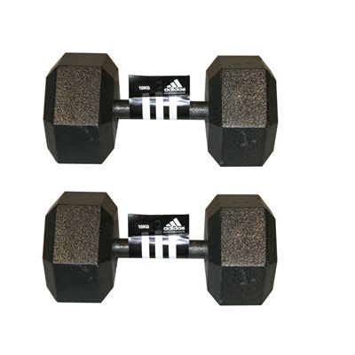 Adidas 2 x10kg Hex Dumbbell