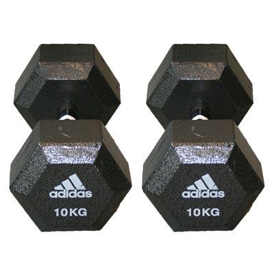 Adidas 2 x10kg Hex Dumbbells