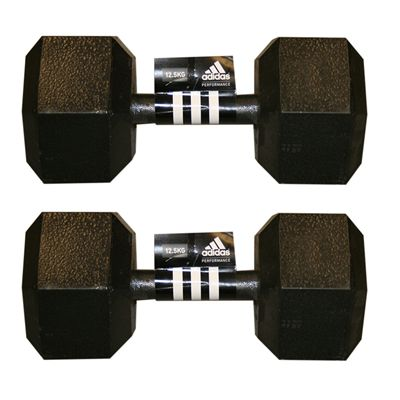 Adidas 2 x12.5kg Hex Dumbbell