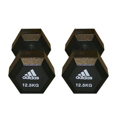 Adidas 2 x12.5kg Hex Dumbbells