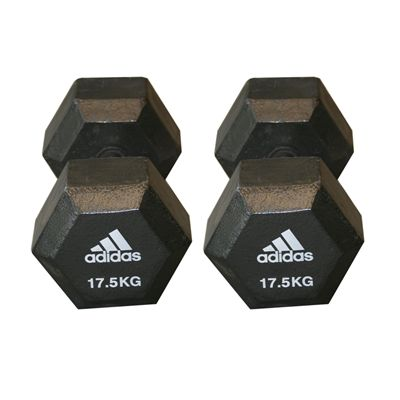 Adidas 2 x 17.5kg Hex Dumbbell