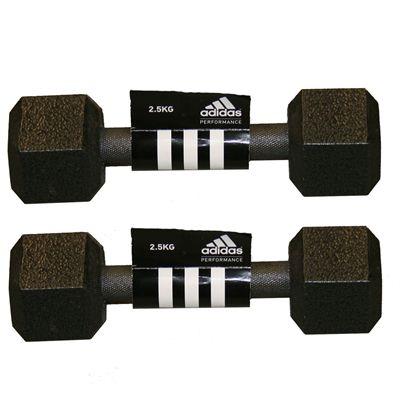 Adidas 2 x2.5kg Hex Dumbbells