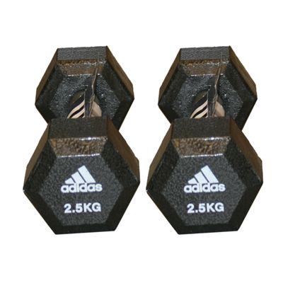 Adidas 2 x 2.5kg Hex Dumbbell