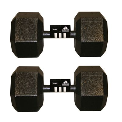Adidas 2 x20kg Hex Dumbbell