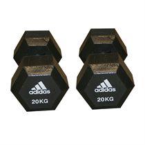 Adidas 2 x 20kg Hex Dumbbells