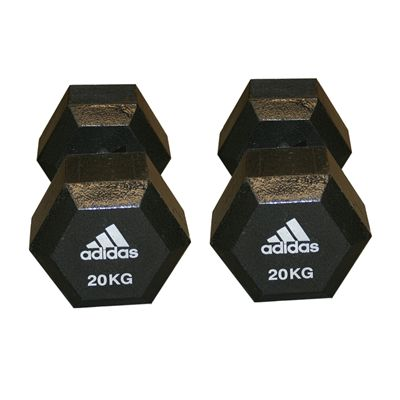 Adidas 2 x 20kg Hex Dumbbell
