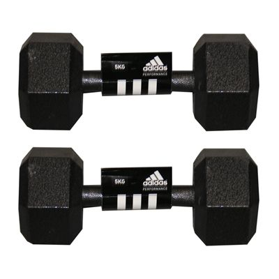 Adidas 2 x5kg Hex Dumbbell