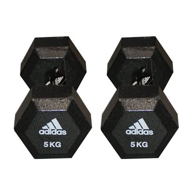 Adidas 2 x 5kg Hex Dumbbell