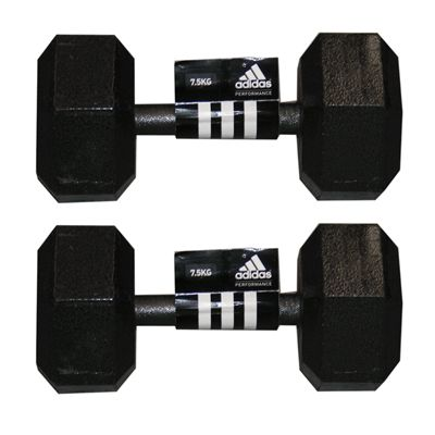 Adidas 2 x7.5kg Hex Dumbbell