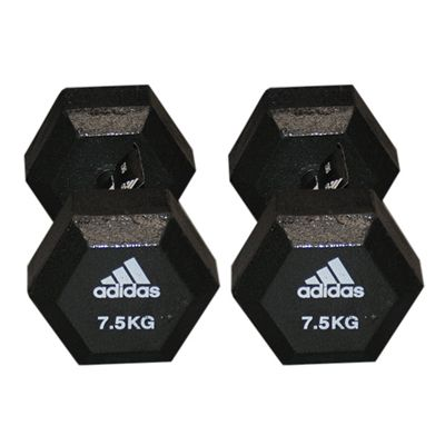 Adidas 2 x 7.5kg Hex Dumbbell